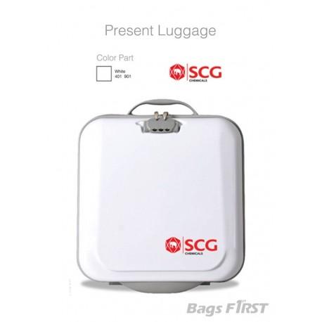 ตัวอย่างกระเป๋าเดินทางขนาด 16 นิ้ว พร้อมสกรีนโลโก้